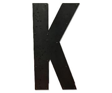 Artsy Metal Letter K