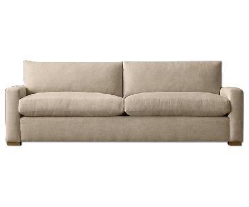 Restoration Hardware Maxwell Petite Linen Sofa