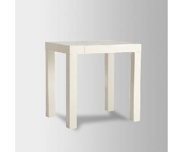 West Elm White Parsons Mini Desk