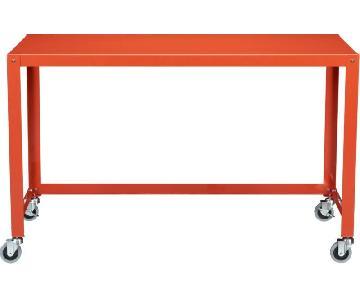 CB2 Orange/Red Go Cart Desk