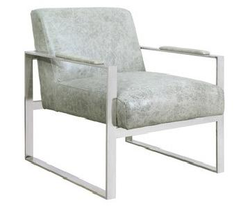 Bungalow 5 Lever Leather/Chrome Lounge Chair