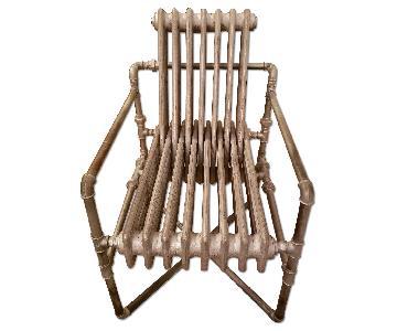 Anthropologie Sculptural Radiator Chair