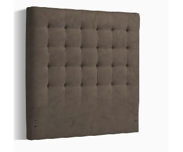 West Elm Tufted Tall Queen Headboard in Otter