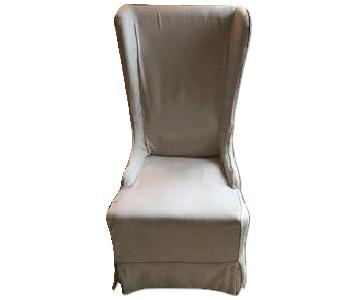 Modern High Back Style Occasional Wing Chair