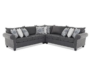 Bob's 3 Piece L-Shaped Sectional Sofa & Ottoman