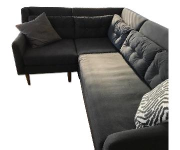 West Elm Crosby 3-Piece Sectional Sofa