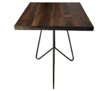Wood & Metal Cafe Table
