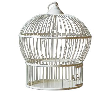 Vintage Metal Birdcage