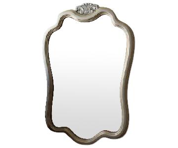 Large Gilded Silver French Inspired Mirror