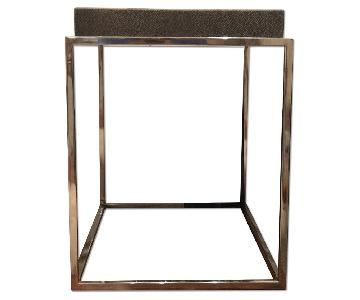 Restoration Hardware Shagreen Tray Rectangular Side Table