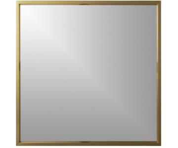CB2 Large Square Wall Mirror in Brass