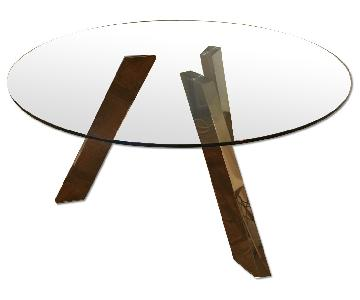 Jensen-Lewis Round Glass Dining Table