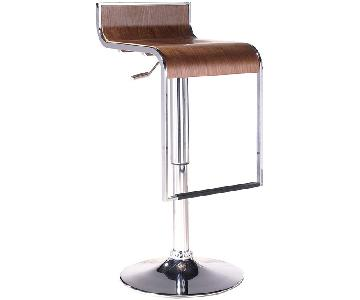 Modway LEM Piston Stool in Walnut