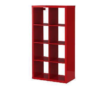 Ikea Kallax High Gloss Red Shelving Unit