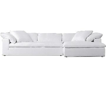 Restoration Hardware Cloud Track Sectional Sofa