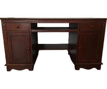 Wooden Desk w/ Storage