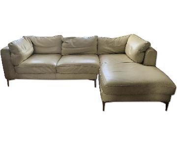 Design Within Reach Nicoletti Leather Sectional Sofa