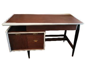 Mid-Century Modern Mahogany Writing Desk
