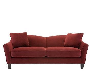 Raymour & Flanigan Scarlet Microfiber Sofa