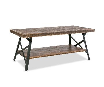 Rustic Style 2-Level Coffee Table