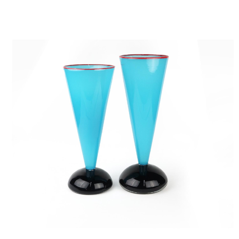 Ibex Postmodern Art Glass Vase