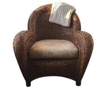 Pottery Barn Malabar Rattan Chair