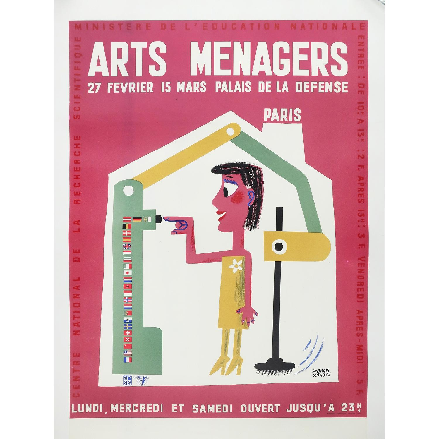 Vintage Red Art Menagers Poster