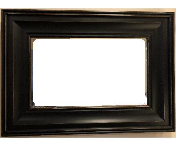 Pottery Barn Black Wood Frame Mirror