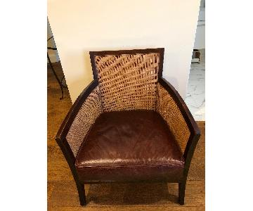 Crate & Barrel Blake Chair w/ Leather Cushion