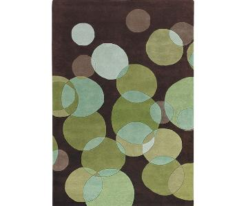 Chandra Rugs Green Bubbles Avalisa Rug