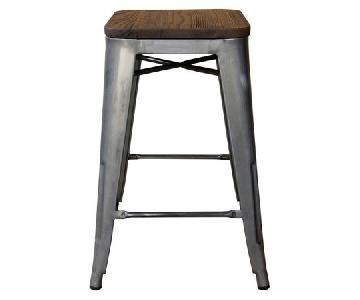 Target Hampden Industrial Wood Top Metal Counter Stool