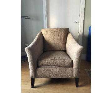 Ethan Allen Beige Fabric Arm Chair