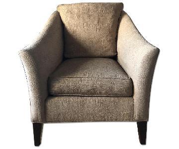 Ethan Allen Beige Fabric Arm Chair
