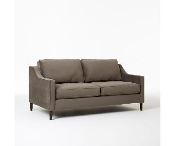 West Elm Performance Velvet Otter Paidge Sofa