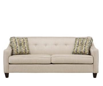 Raymour & Flanigan Ashton Beige Sofa