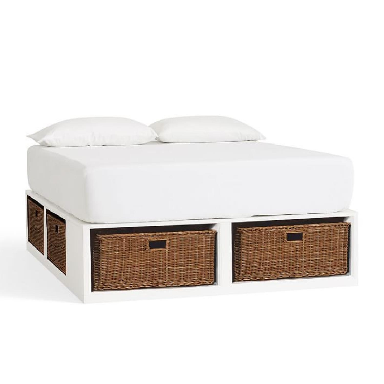 Pottery Barn Stratton Storage Platform Bed With Baskets Aptdeco
