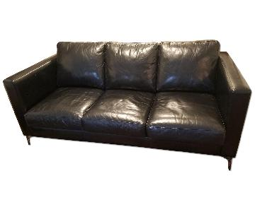 Jensen-Lewis American Leather Black Sofa