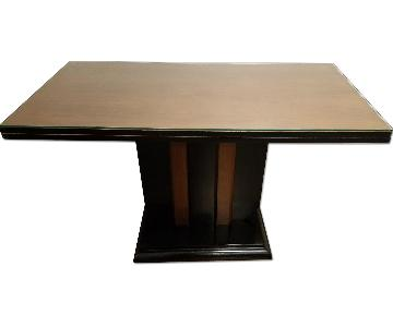 Art Deco Expandable Wood Dining Table