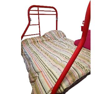 Red Metal Full Size Bed Frame