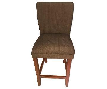 Upholstered Bar Stool w/ Wood Legs