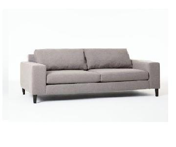 West Elm York Grand Down Feather Sofa in Dove Gray