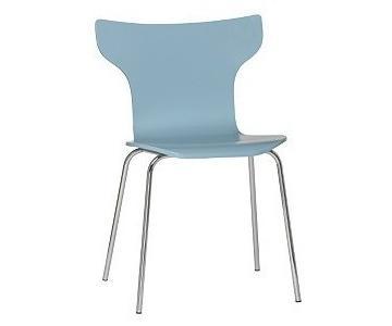 CB2 Toro Light Blue Teal Chair