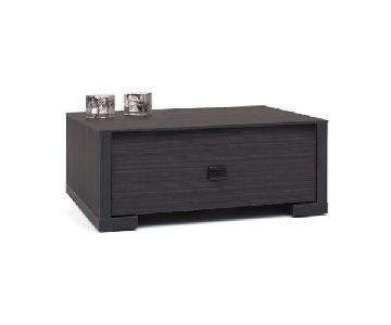 Lazzoni Single Drawer Nightstand w/ Leather Handle