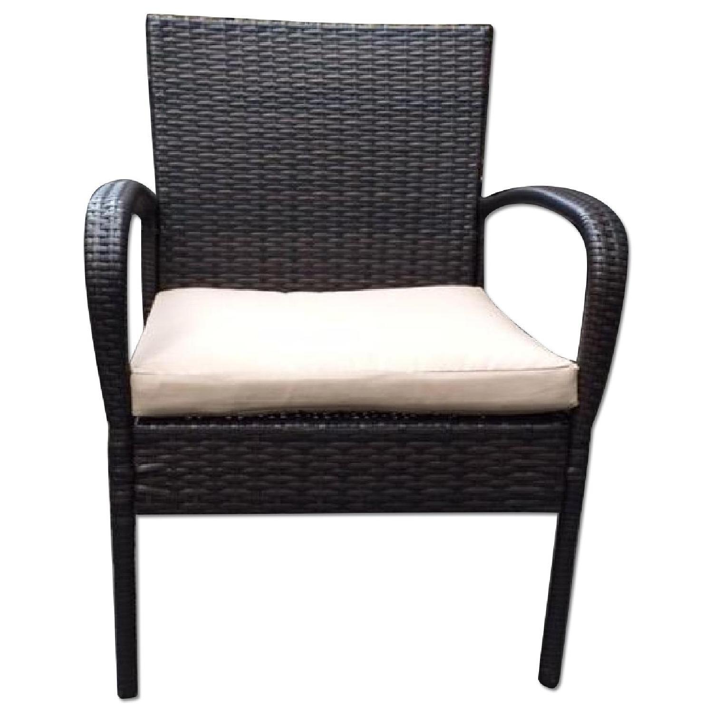 Outdoor Patio Wicker Armchair W/ Cushion ...