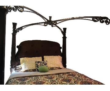 Ashley King Size Wood Canopy Bed