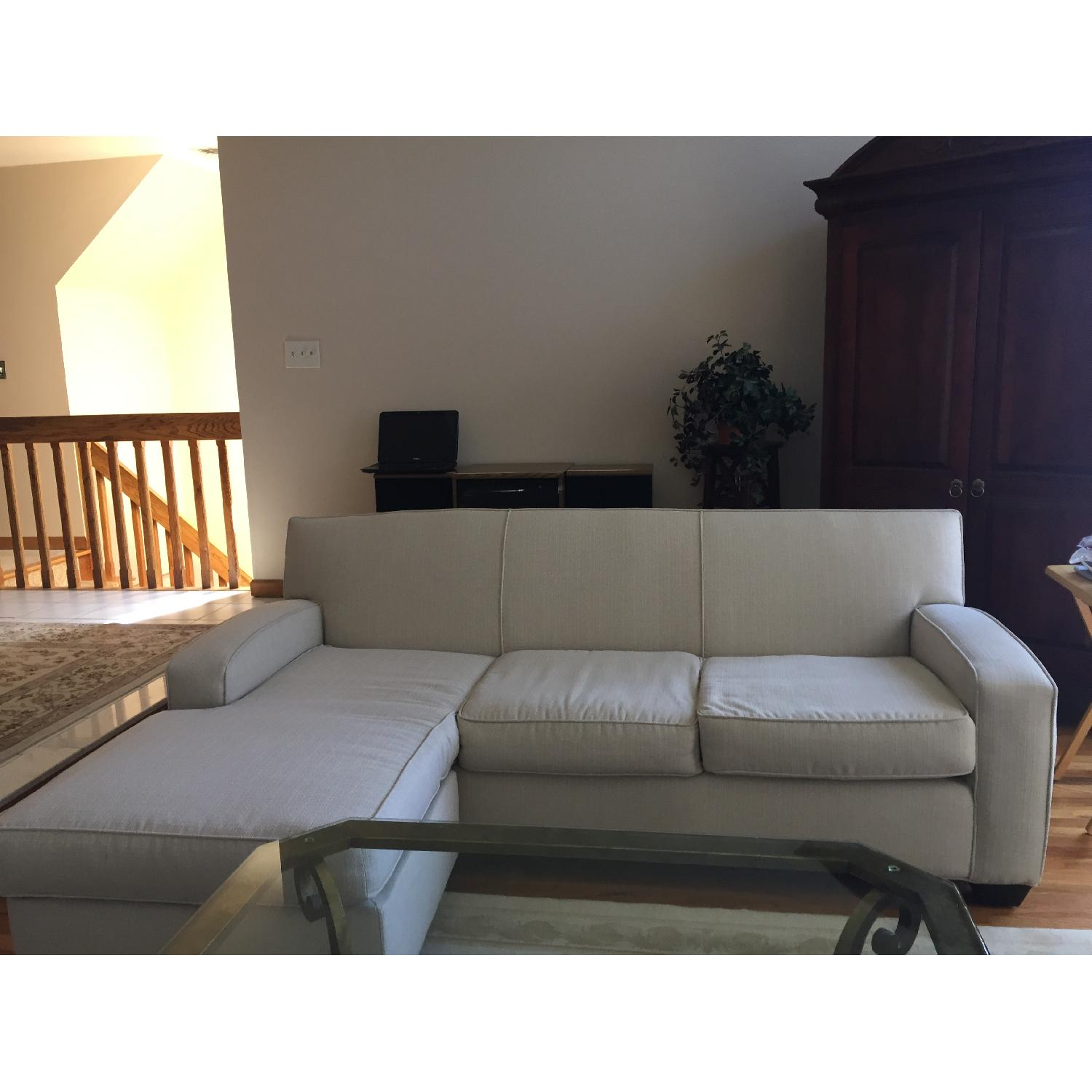 2 Piece Sectional Sofa W/ Floating Chaise ...