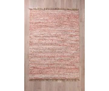 Urban Outfitters Red Vernick Berber Rug