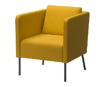 Ikea Ekero Modern Armchair in Skiftebo Yellow