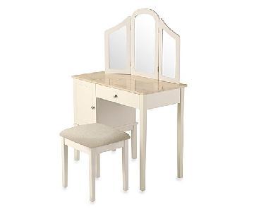Linon Home Darlington Vanity & Bench