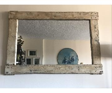 Pampa Rustic Wood Framed Mirror